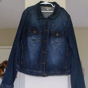 One World Large Womens Jean Jacket
